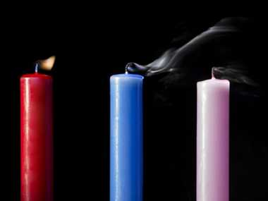 Avoid candles with smoke