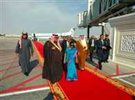 Sushma swaraj reached in Arab League for first meeting with Bahrain
