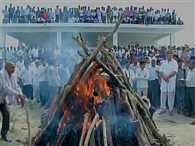 Gajendra's funeral in his village in Rajasthan