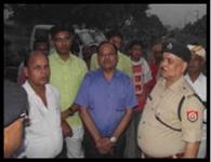 घटनास्थल पर पहुंचे जिले के आला अधिकारी