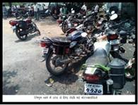 बड़े पैमाने पर हुई मोटरसाइकिल जांच, चालान कटा