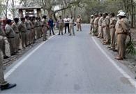 वनों की रक्षा को पुलिस व वन विभाग का पूर्वाभ्यास