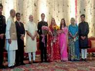 PM Modi at Digvijaya's son Jaivardhan's wedding reception in Delhi
