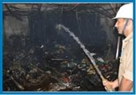 माल रोड पर आग से शेयर कंपनी के दफ्तर राख