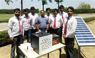 आरकेजी के छात्रों ने किया सोलर एयर प्यूरीफायर का निर्माण