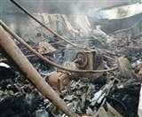 रुड़की में रबड़ फैक्ट्री में आग से लाखों का सामान राख