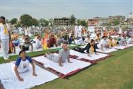जेआरडी में भास्करन संग लोगों ने किया योगाभ्यास