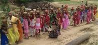 हनुमत प्राण प्रतिष्ठा को ले कलशयात्रा का आयोजन