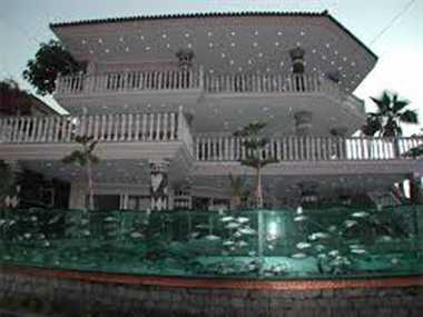 Aquarium outside House in Turkey
