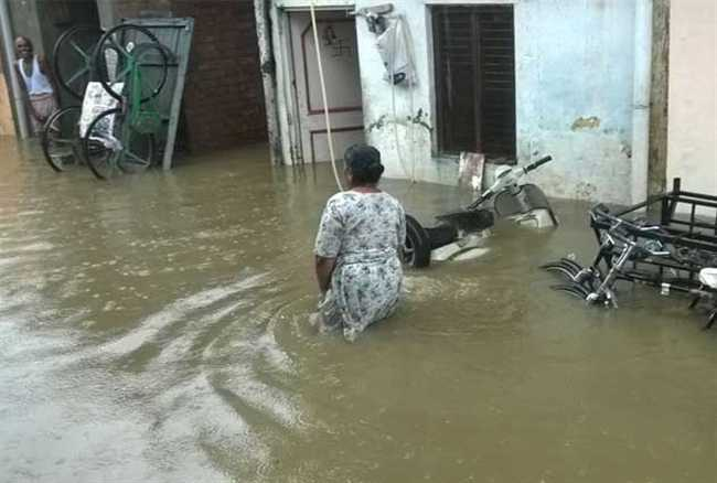 Heavy rains in Haryana, flood-like situation in Yamunanagar