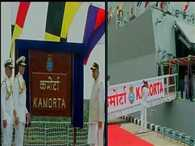 India's first indigenously-built stealth anti-submarine warfare INS Kamorta