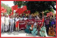 sugar mil workers protest