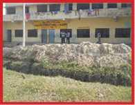 students of kastorba school geting cold in winter