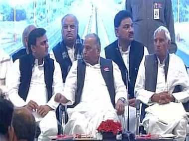sp chief mulayam singh yadav Laid the foundation stone of agra lucknow expressway