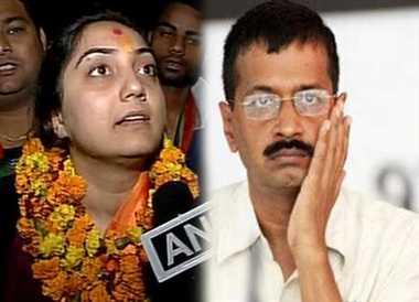 kejriwal will act like monkey : nupur sharma