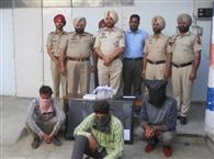 चोरी के तीन आरोपी हिरासत में, सामान बरामद