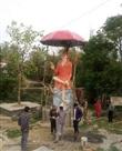 ग्रामीणों ने बनाई साई बाबा की 20 फुट ऊंची मूíत