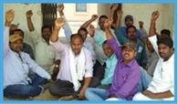 मांगों के समर्थन में शिक्षकों प्रदर्शन