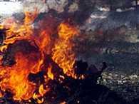 TMC leader Buro Hansda's wife dies in a blast at his residence in Birbhum
