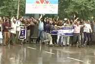 Public Health Engineering employees lathicharged by police