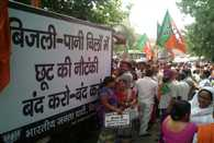 BJP protest AAA Government over water-electricity cirsis in Delhi