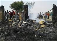 चार झोपड़ियां जली, हजारों का सामान राख