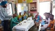 गांव वासियों को मलेरिया के खिलाफ किया जागरूक