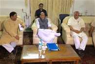 home minister rajnath singh reaches to srinagar