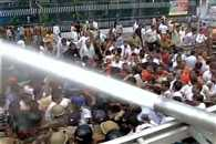 baton-charged over to BJP workers assembly tackled in lucknow