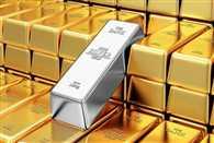 Gold rise silver falls