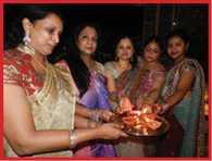 people celebrated and enjoy diwali