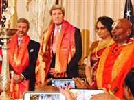 Kerry lits diya to celebrate first ever Diwali at State Dept