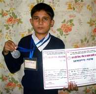 student in third place