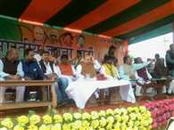 Amit shah addresses rally in Jamshedpur