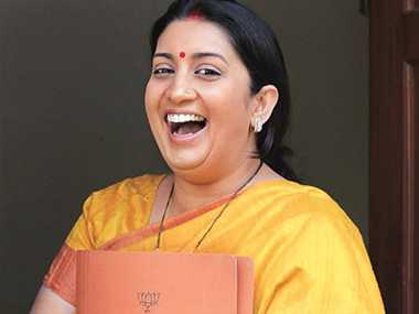 smriti irani do not do acting after being member of parliament
