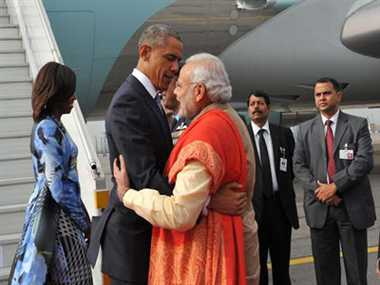 When Narendra Modi Hug US Prasident Barack Obama