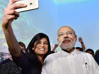 BJP launches Selfie with Modi to woo young voters in Delhi