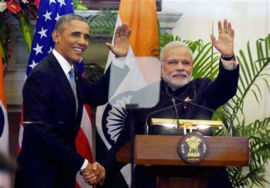 obama visit india: joint conference of modi and obama from hyderabad house