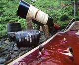 रेड वाइन तो खूब पीया होगा, पर ऐसे नहाते नहीं देखा होगा किसी को