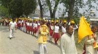 मंगल कलश शोभा यात्रा के साथ यज्ञ शुरू