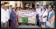 रैली निकाल टीबी रोग की रोकथाम को किया जागरूक