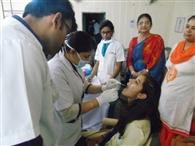दंत चिकित्सा शिविर में 116 ने कराई जांच