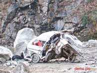 tavera skid off from road  in to river in Jammu and kashmir