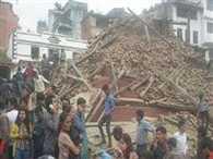 City of wooden art Kathmandu turns into piling