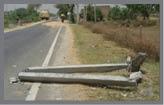 बरातियों से भरी कार विद्युत पोल से टकराई, एक की मौत