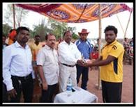 क्रिकेट प्रतियोगिता में बढईमुंडा बना विजेता