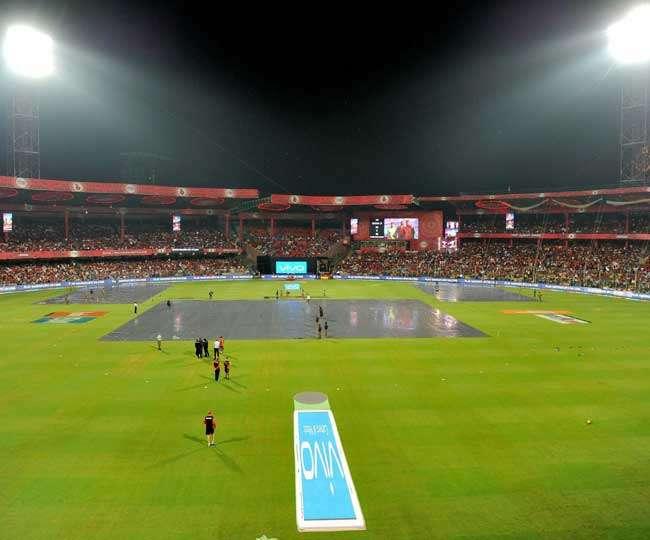 आइपीएल-10: बैंगलोर-हैदराबाद मैच बारिश की वजह से रद हुआ