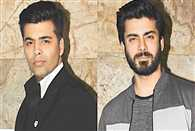 Karan johar and fawad khan enjoying in IIFA
