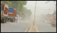 धूलभरी आंधी के बाद मौसम ने करवट बदली लेकिन बारिश नहीं
