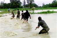 floods hits normal life in Assam and Alert issued for heavy rainfall in north west india
